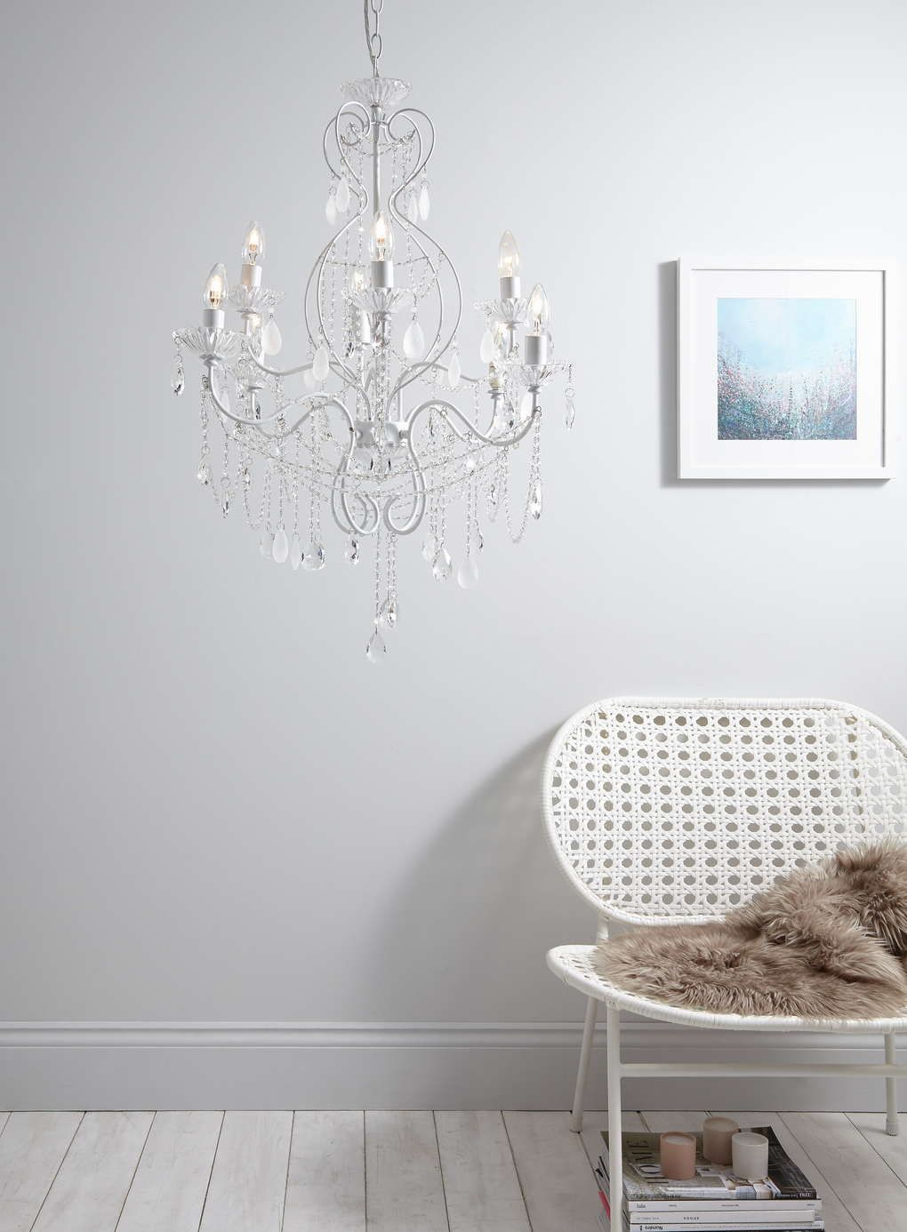 White Holly Willoughby Vintage Chandelier Bhs With Images