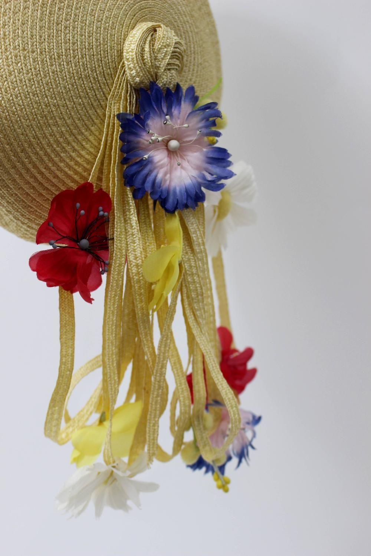 Vintage Yves Saint Laurent Floral Beret  hat 5  e8ccc9475d4
