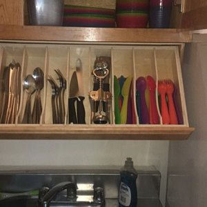 App Drawer Organizer Amazing Under Cabinet Drawer Silverware Storage  Flatware Organizer 2018