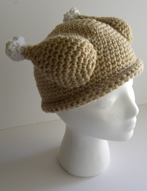 CROCHET PATTERN Crocheted Turkey Dinner Hat w/permission to sell ...