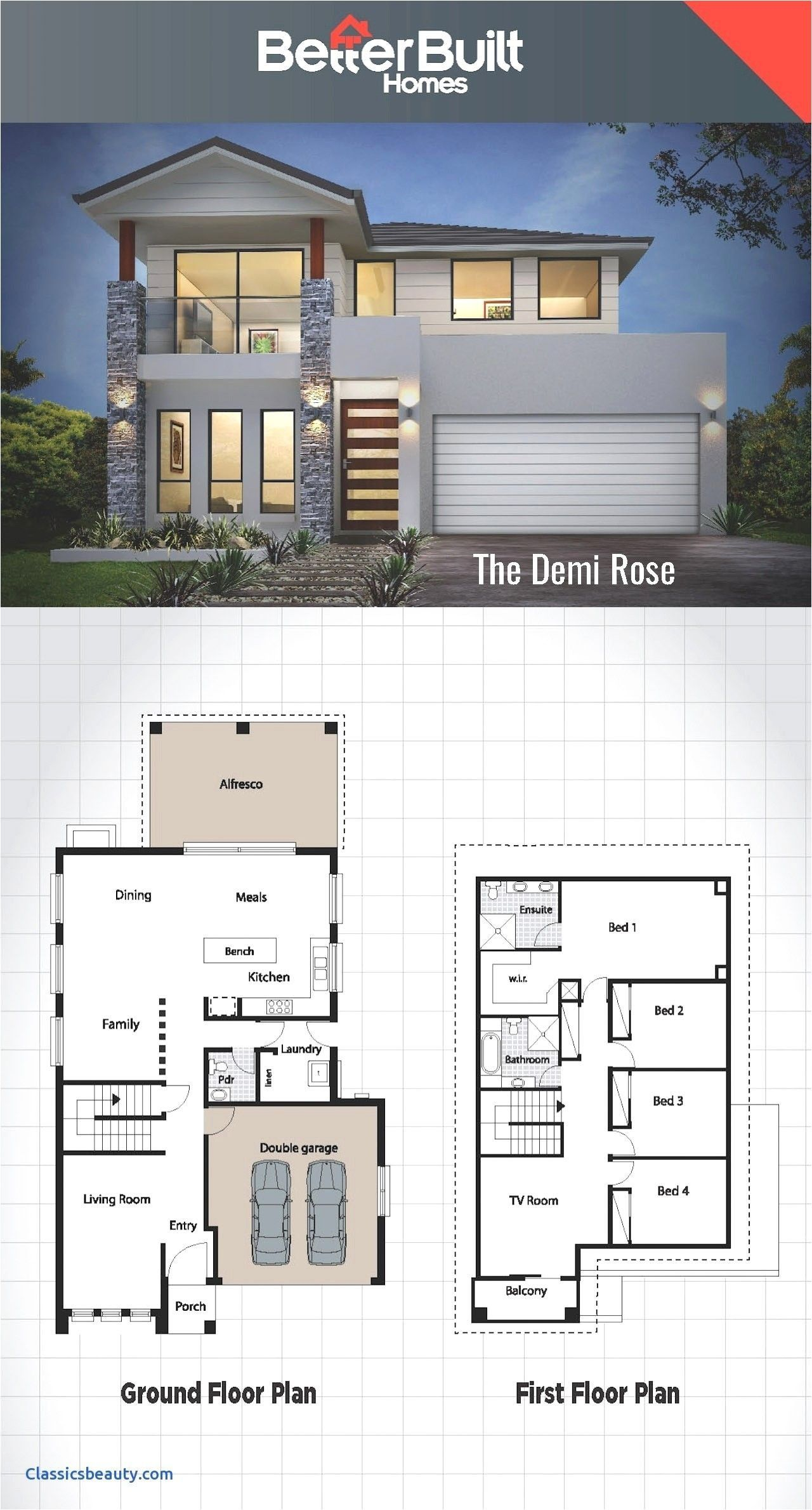 Beautiful Modern House Design Plans Small House Plans Under 200k To Build Philippines In 2020 Modern House Floor Plans House Blueprints Modern Farmhouse Plans