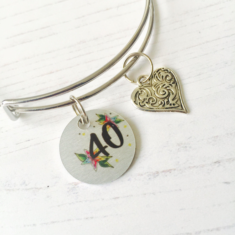 40th birthday jewellery cute charm bracelet for a 40th
