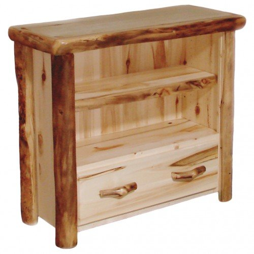 Beartooth Aspen 45 Inch Tall Bookcase With Drawer Bookcase With Drawers Bookcase Rustic Bookcase