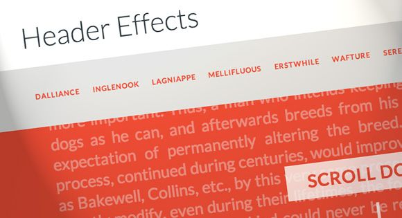 On Scroll Header Effects Header, Design development and Web design - best of blueprint fixed background scrolling layout