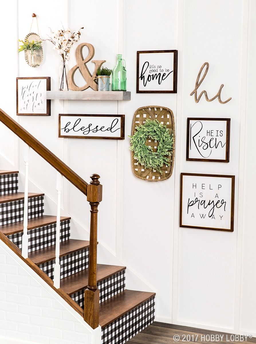Turn Your House Into A Home With Beautiful Inspirational Pieces Stair Decor Staircase Wall