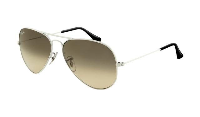 bd3e7564816 Ray Ban RB3025 Aviator Sunglasses White Frame Crystal Gray Gradi   Rayban073  -  18.20   ray ban glasses aviator