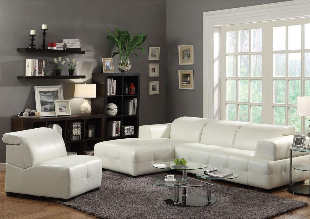 Wow Furniture Dallas Tx Darby White Sectional Contemporary