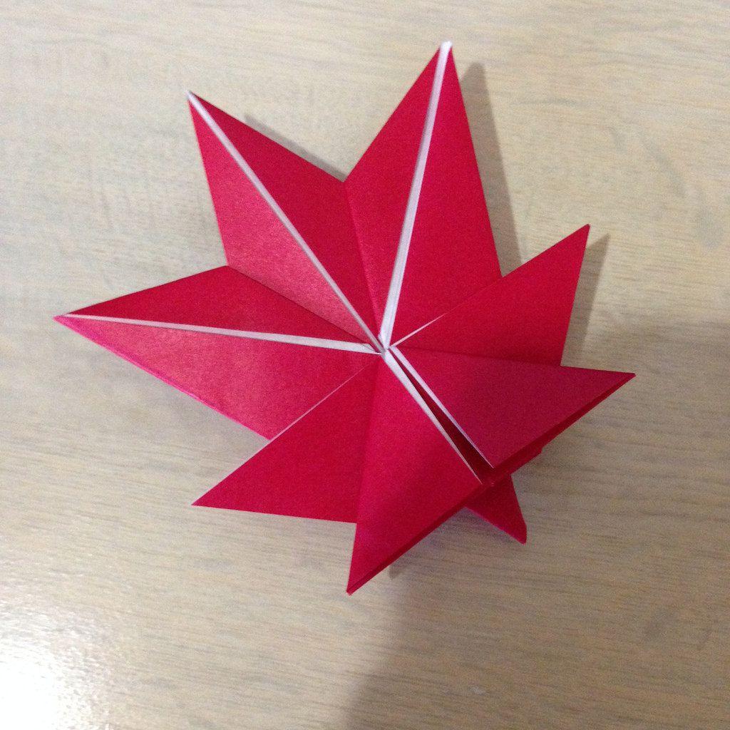 Maple Leaf   origami leaves   Pinterest   Origami leaves ... - photo#44