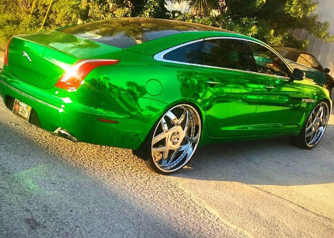 2 177 Likes 19 Comments Ace 1 Ace1whips On Instagram Chevyreggie32 Chrome Green Jaguar Cat On 26 S Amani Acewhips Net Ja Jaguar Car Jaguar Instagram