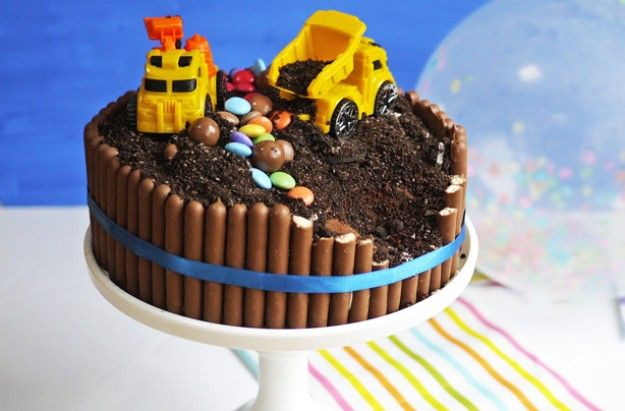 Enjoyable Digger Cake Recipe With Images Cake Recipes For Kids Digger Funny Birthday Cards Online Necthendildamsfinfo