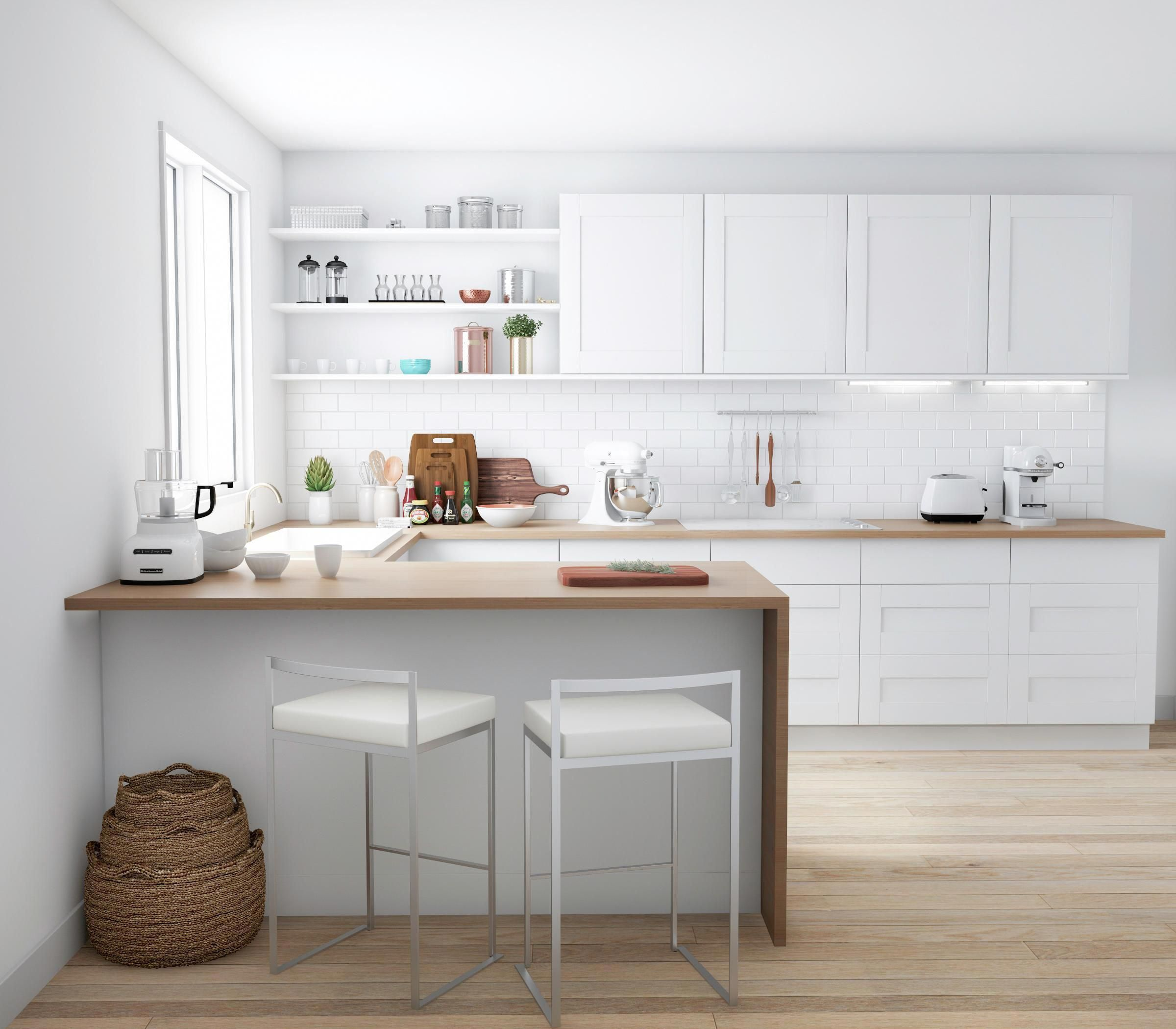 Country Kitchen Ramona: Ever Wondered How To Get That Modern Scandinavian Look
