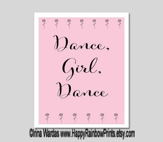 Dance Quotes Download Dance Girl Dance Printable Encouraging Dance Typography Pink Ballerina Decor Dancer Gifts Positive Att Girl Dancing Dance Quotes Dance Dance quotes wallpapers free download