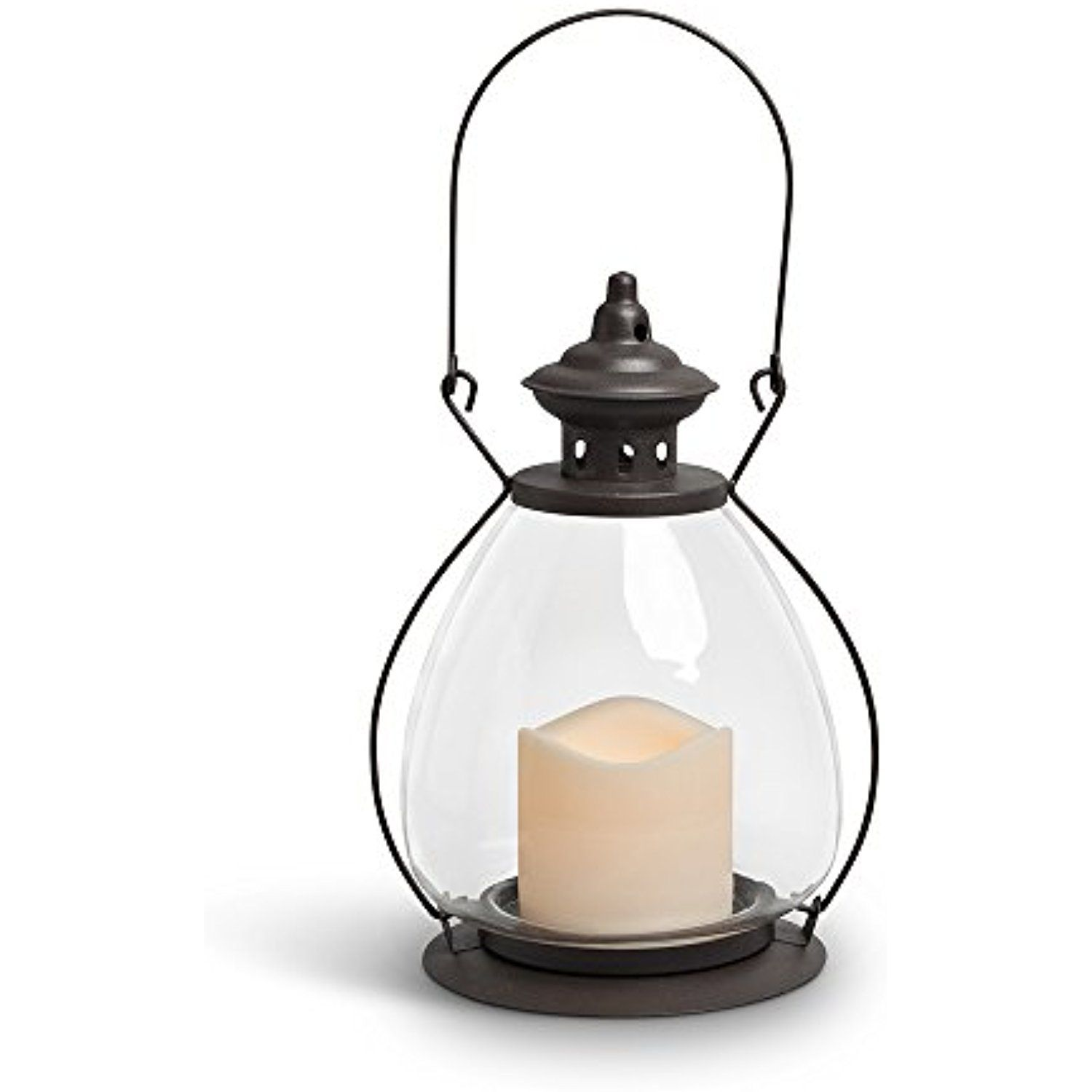 Gerson Everlasting Glow 42465 Battery Operated Metal and Glass ...