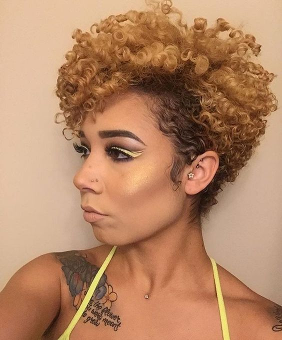 50 Cute Short Natural Hairstyles For Black Women