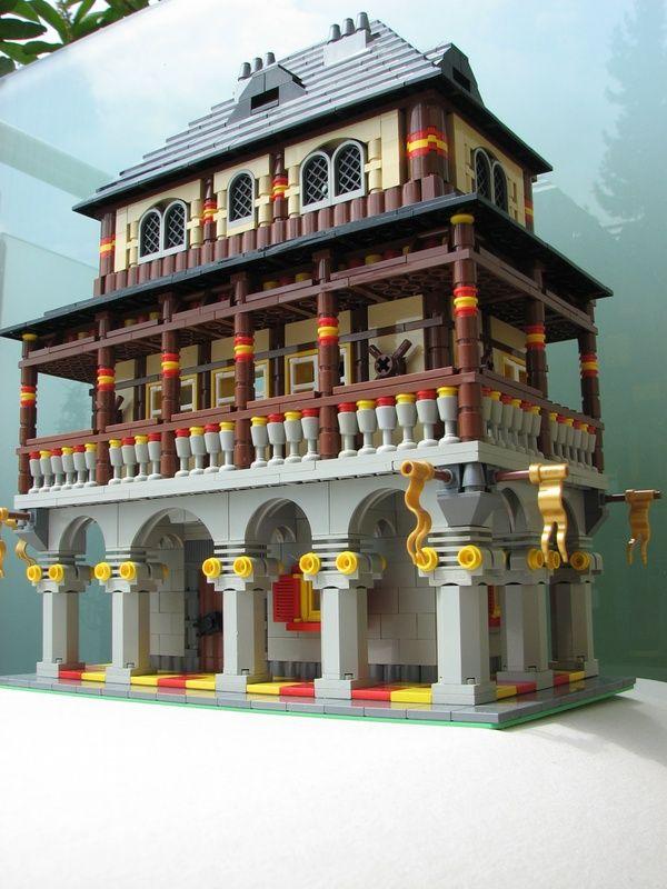 Double Windows Under Arch Lego Building Brickadelics