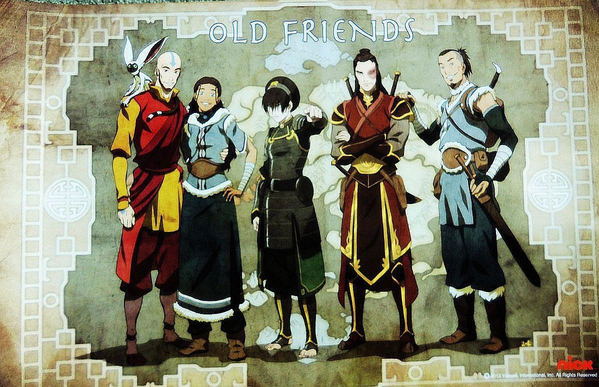 Adult Gaang poster from San Diego Comic Con.   Avatar aang, Team ...