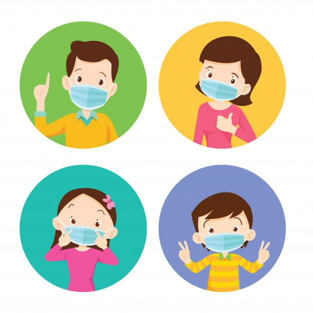 Family wearing protective medical mask f... | Premium Vector #Freepik #vector #family #medical #kid #mask