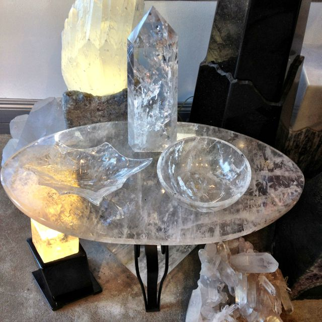 Quartz Crystal Table And Accessories