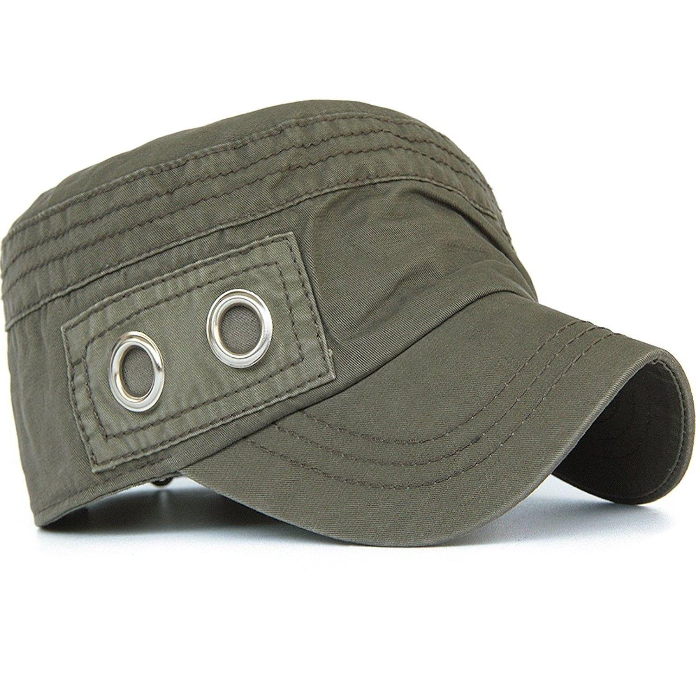 Unisex Adult Cadet Caps Military Hats Zip Star Stud Patch - Color2-1 -  CP11Y2WG8I7 - Hats   Caps a562758f44f4