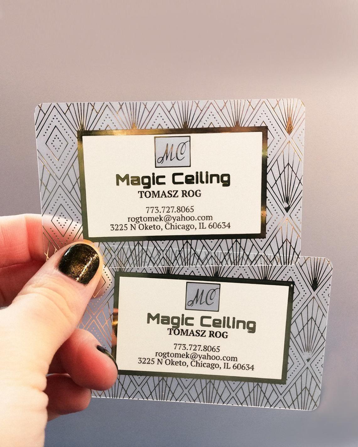 Photographer Gold Foiled Plastic Pvc Business Cards Free Unique