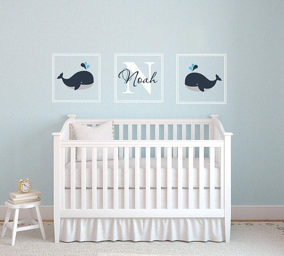 Simple Whale Wall Decal Name Wall Decal Nautical Baby Room Baby Avdic e Day Pinterest Ideas - Style Of baby room decals Plan