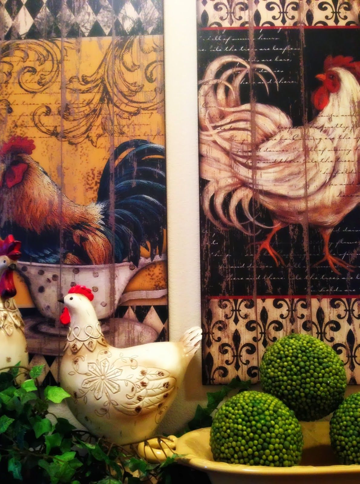 Unique Decorating with Roosters