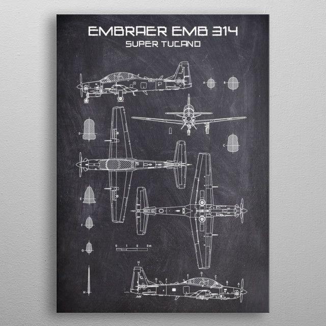 EMBRAER EMB 314 SUPER by FARKI15 DESIGN | metal posters - Displate | Displate thumbnail