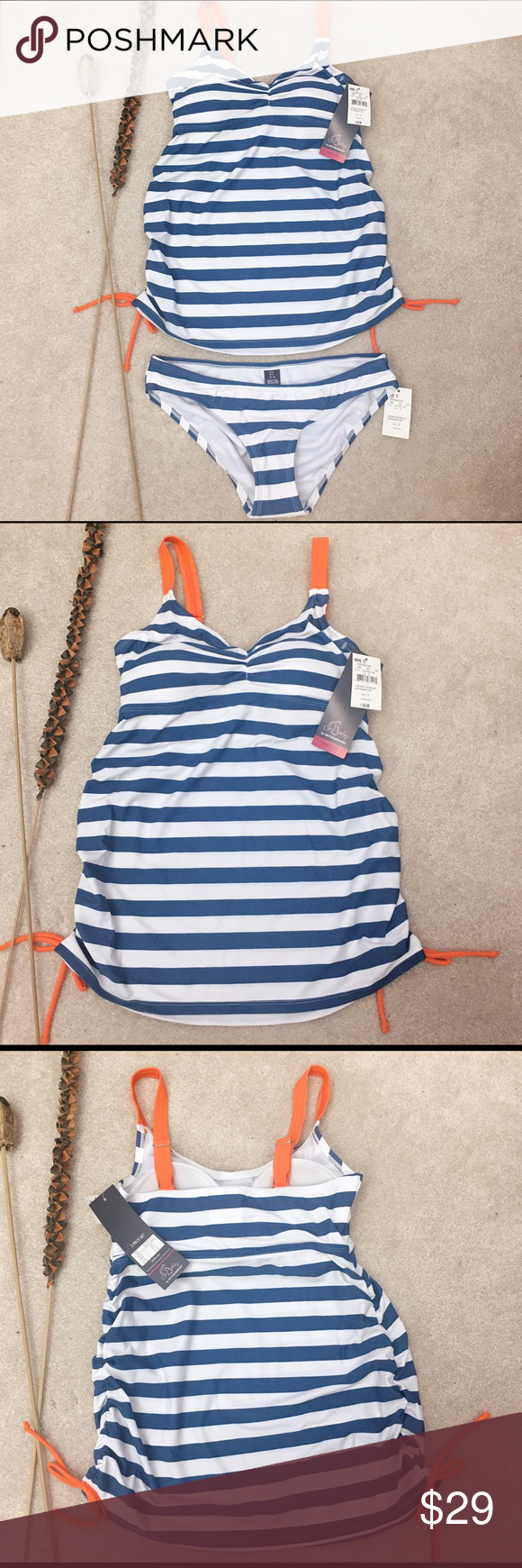 Oh baby by motherhood maternity swimsuitlast nwt white oh baby by motherhood maternity striped swimsuit retail for 60 two pcs set navy blue ombrellifo Choice Image