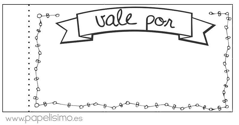 chequera-vale-por-regalos-para-imprimir-pdf | DIY | Pinterest ...