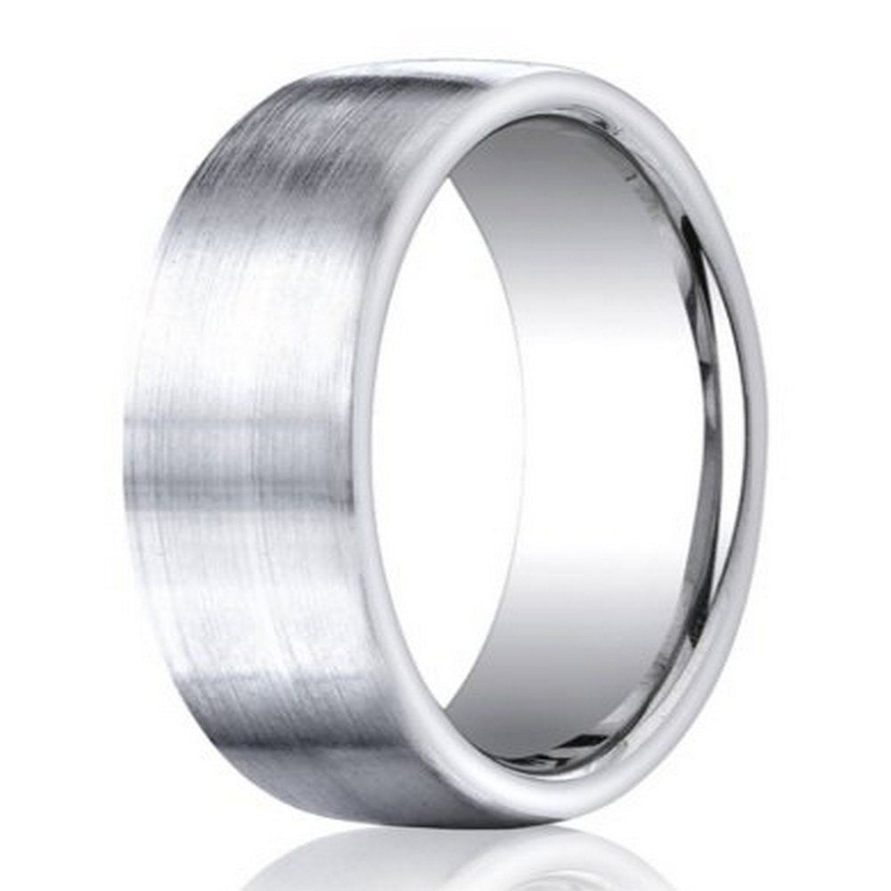 Benchmark Cobalt Chrome Men S Wedding Band Satin Finish 7 5mm Shop Engagement Rings Cobalt Wedding Mens Wedding Bands