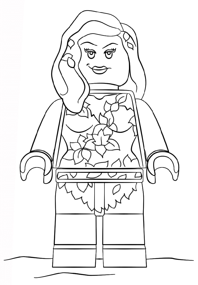 Poison Ivy Coloring Pages Free | Educative Printable in ...