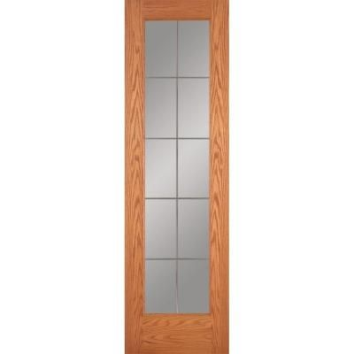 Feather River Doors 24 In X 80 In 10 Lite Illusions Woodgrain Unfinished Oak Interior Door Slab Red Oak Ready To Stain Oak Interior Doors Red Oak Interior
