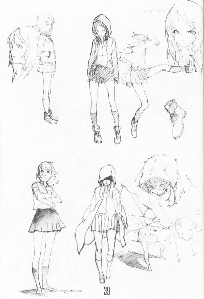 Anime Character Design Sketch : Actitudes de un mismo personaje dibujo pinterest