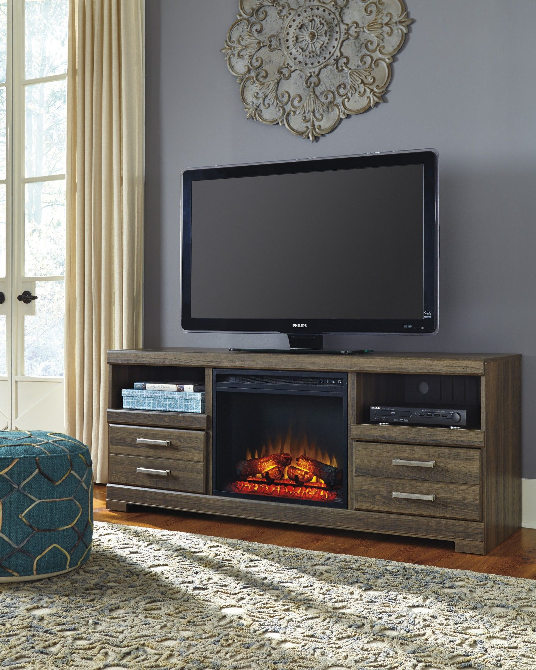 Frantin Brown Tv Stand With Fireplace Insert Home Is Where The