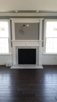 Image Result For Fireplace Surrounds With Over Mantle In
