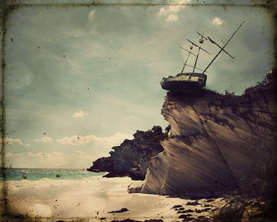 Pirate Ship Art Beach Photography Nautical Tall Ship ...