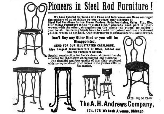 Superb Twisted Steel Rod Fountain Chairs By The A H Andrews Lamtechconsult Wood Chair Design Ideas Lamtechconsultcom