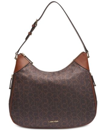 c6802d109d5 Calvin Klein Abby Signature Hobo - Brown in 2019 | Products | Calvin ...