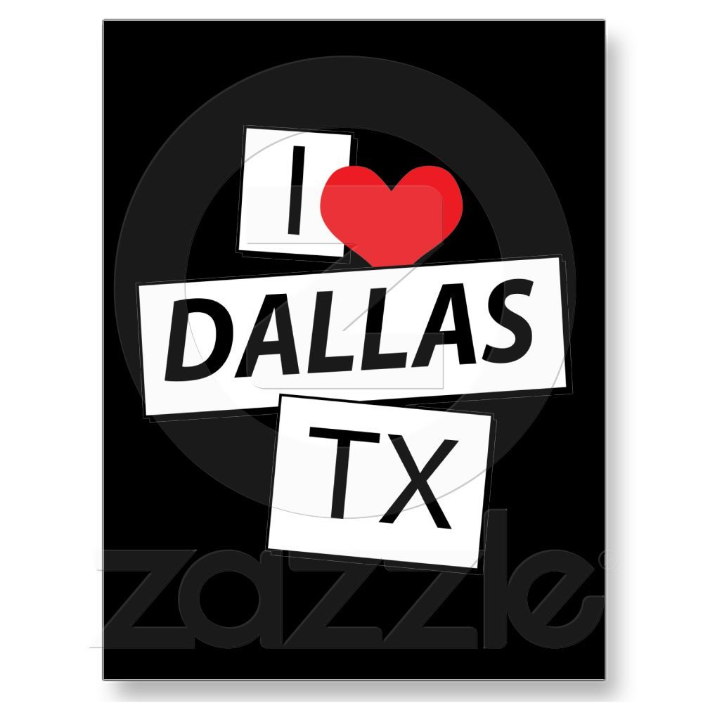I love dallas tx post card from postcard