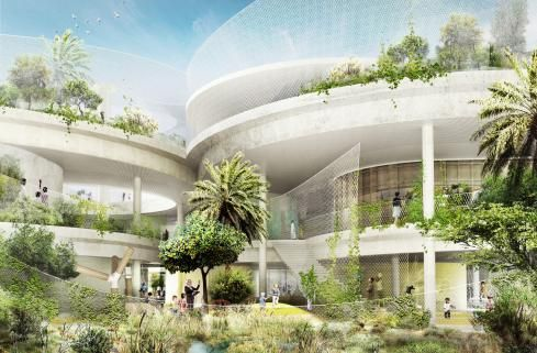 CEBRA, In Collaboration With Landscape Architect SLA, Has Designed The Sustainable  School For The Sustainable City In Dubai. In Opposition To.