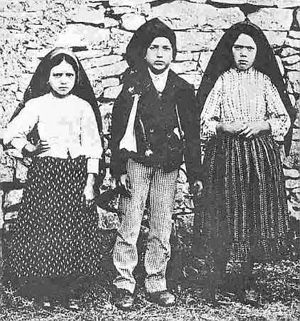 May 13, 2012, marks the 95th anniversary of the first apparition of Mary, Our Lady of the Rosary, to the three young seers at the Cova da Iria in Fatima, Portugal. The children were Lucia de Jesus dos Santos (age 10), Blessed Francisco Marto (age 9) and Blessed Jacinta Marto (age 7). Francisco and Jacinto died within a few years of the apparitions and were beatified in 1983. Lucia (Sr. Maria Lucia) died in 2005 and the cause for her beatification is in progress.