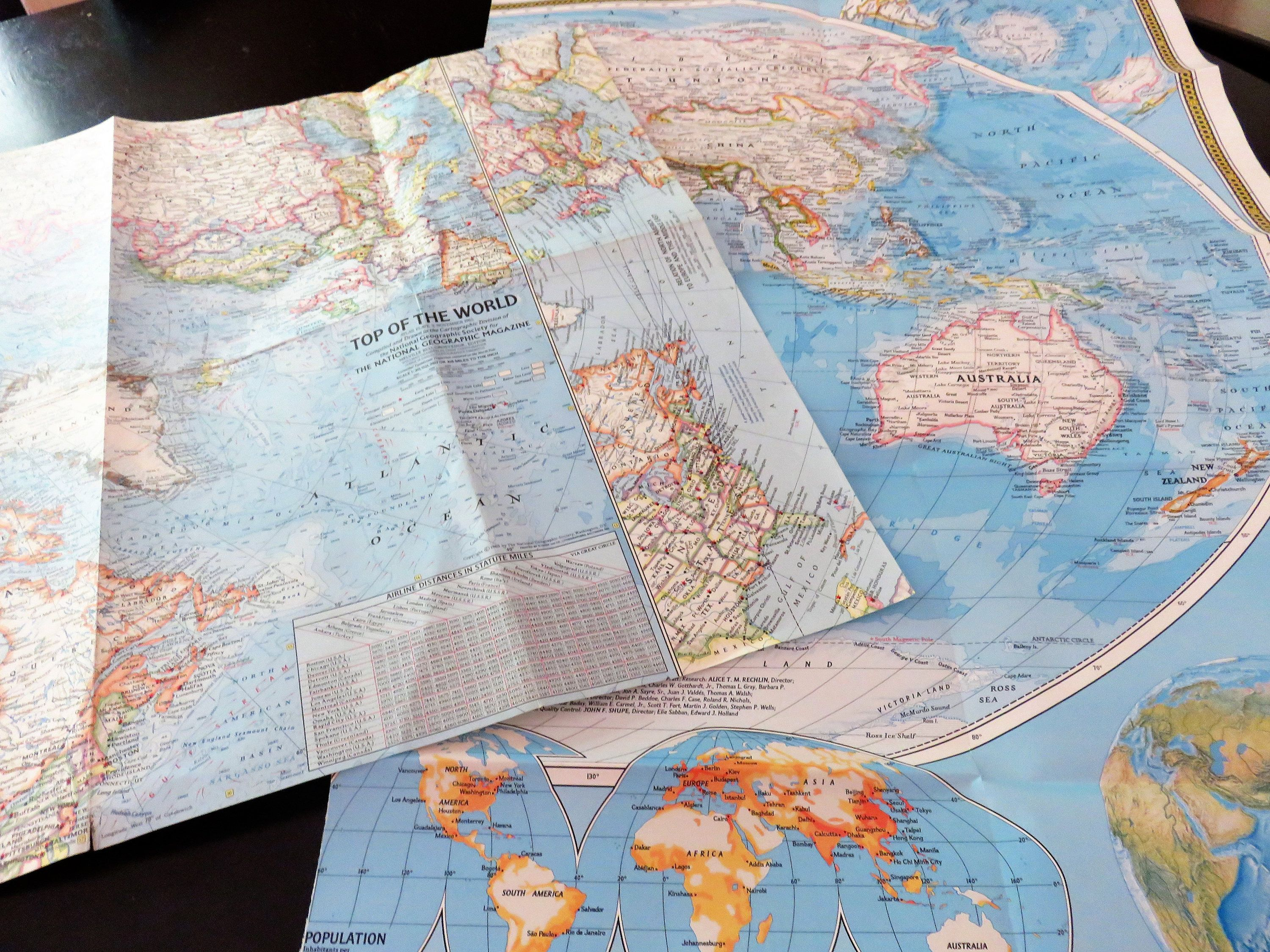 National Geographic Map Set, Two Paper Maps of the World ... on interstate 30 map, interstate map of mississippi and alabama, interstate 85 map, lincoln way map, new jersey route 1 map, interstate highway map, interstate 526 map, interstate 75 map, interstate 70 map, interstate 27 map, us highway 78 map, interstate 80 map, interstate 25 map, interstate 10 map, interstate 422 map, interstate 26 map, interstate 44 map, interstate 74 map,
