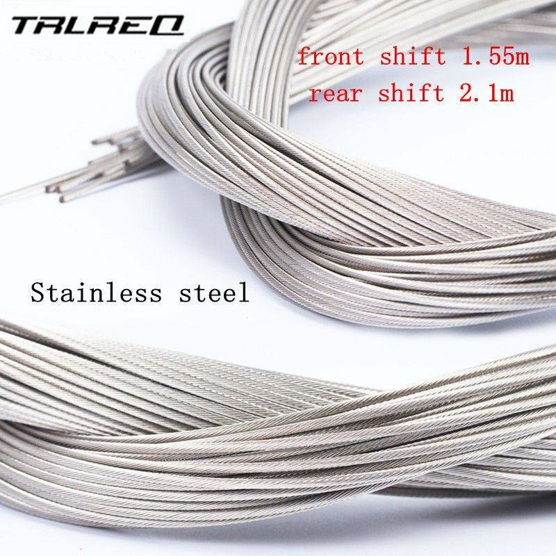 6d97060c1ab8 2 pcs High quality 2100 1550 MM Bicycle Cycling Bike Shift Shifter Gear  Brake Cable Sets Core Inner Wire Silver Stainless Steel  Affiliate
