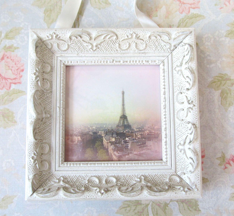 pink paris photo with frame shabby chic decor pink paris decor rh pinterest com