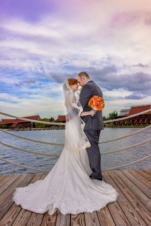 The dock at Disney's Wedding Pavilion never looked so dreamy