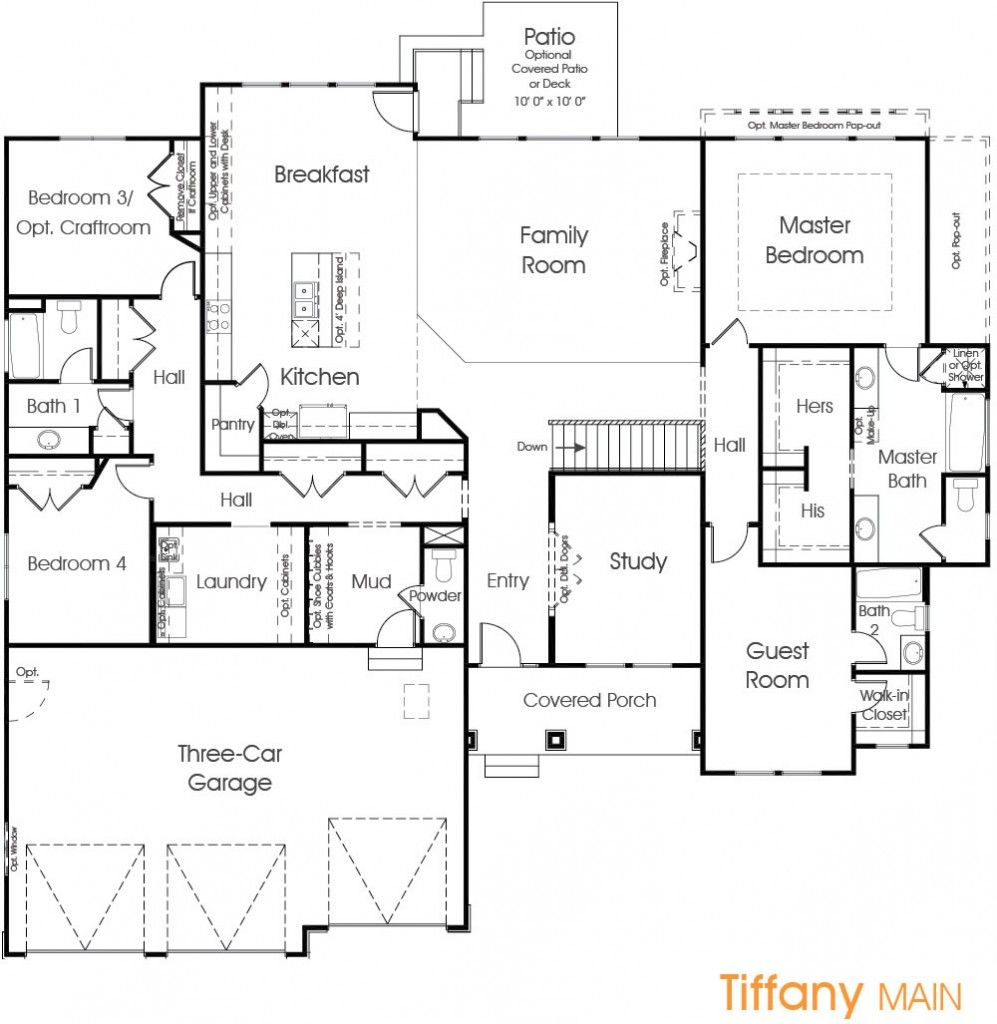 Tiffany | Utah Floor Plan | Edge Homes | Floor plans ... on
