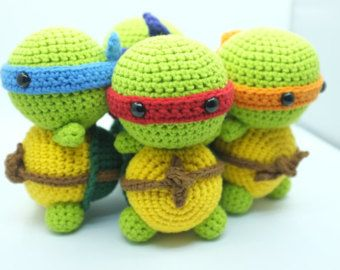 Ninja Amigurumi Free Pattern : PATTERN - Ninja Turtle TMNT Amigurumi Crochet PDF Instant ...