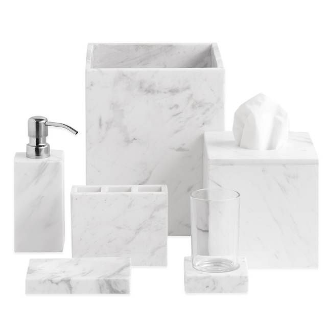 Camarillo Marble Bath Ensemble Marble Bathroom Accessories Marble Bath Bathroom Decor Luxury
