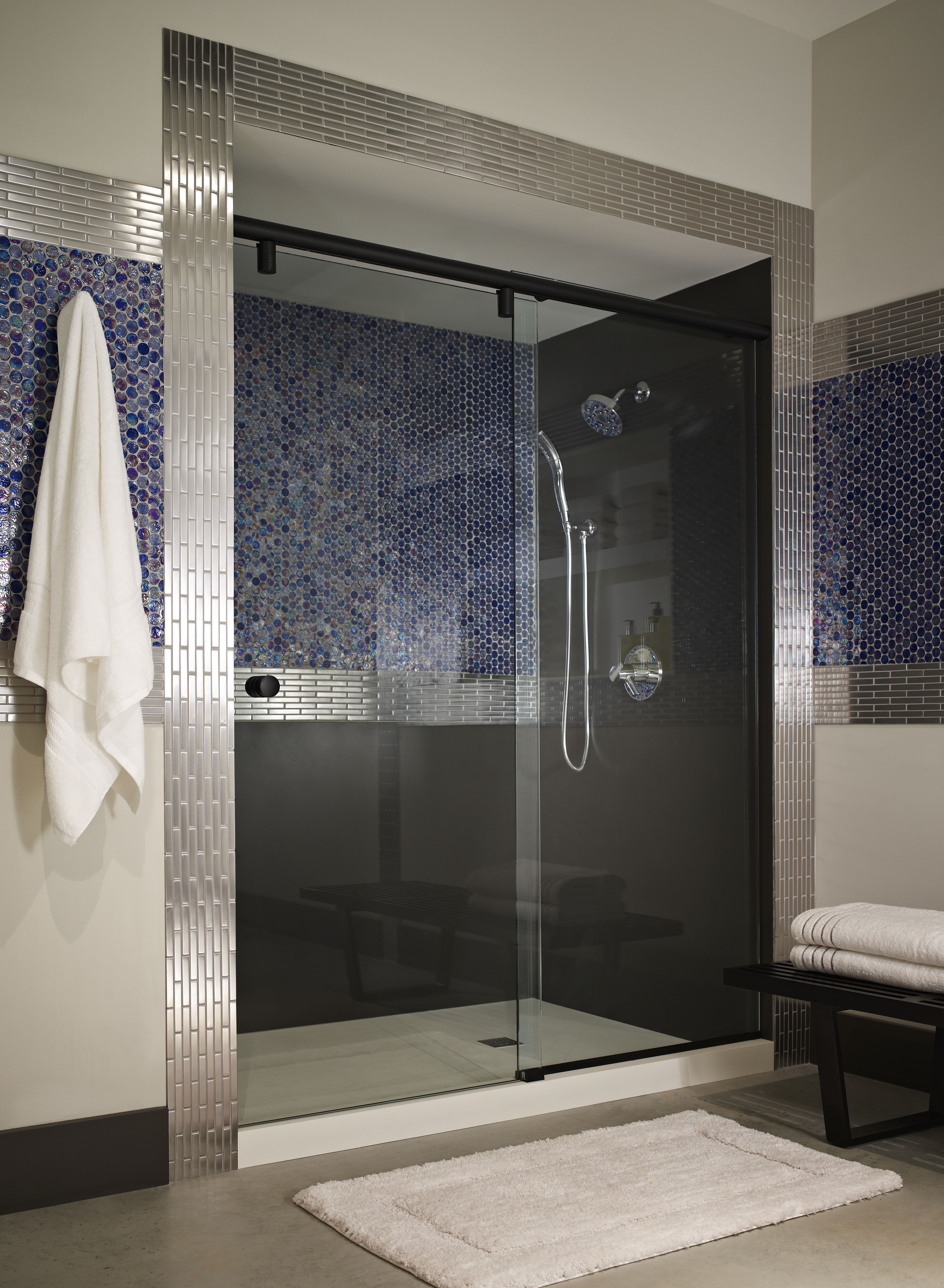 Evo Frameless 3 8 Inch Glass Rolling Door Shower Doors Glass