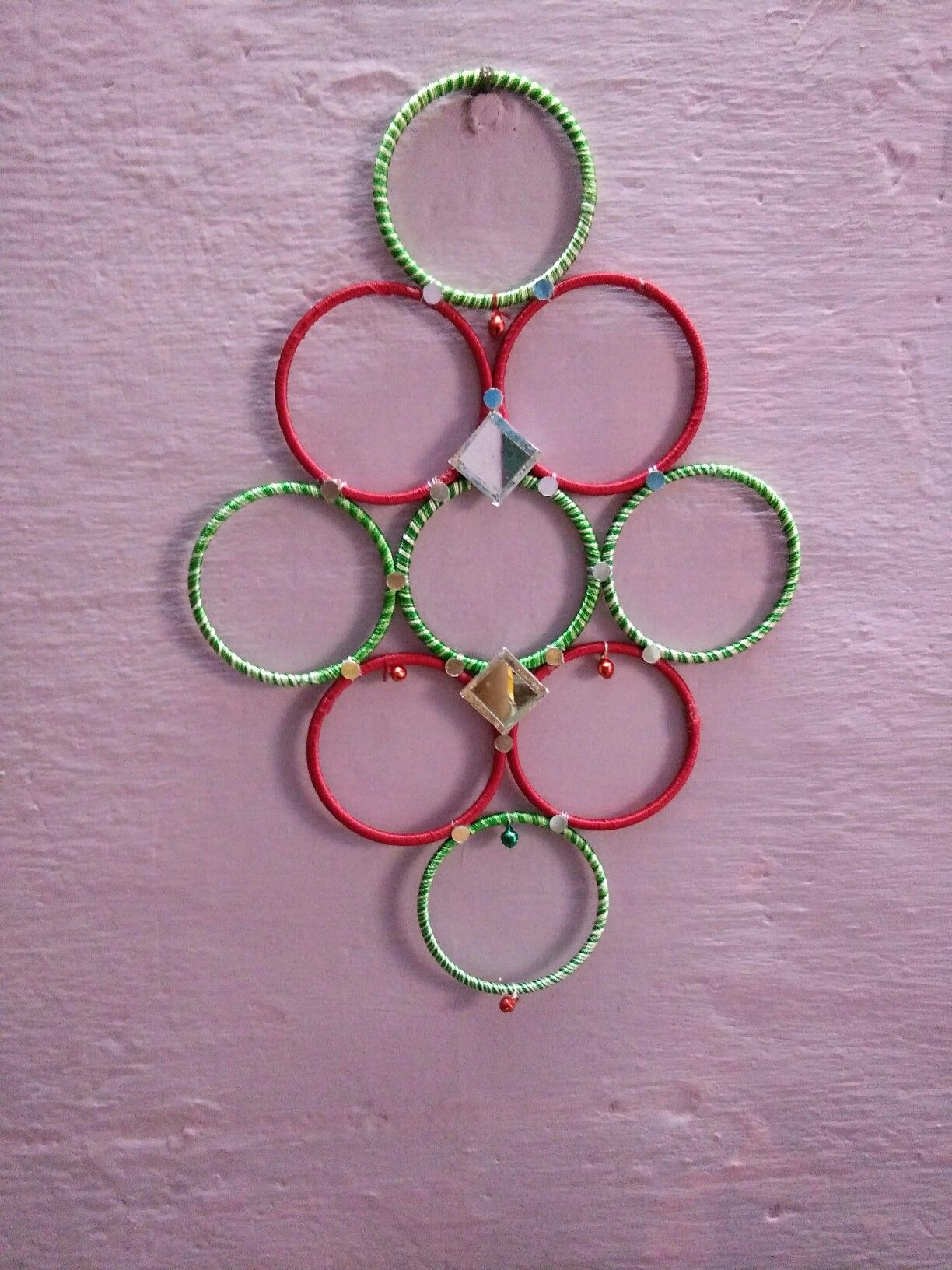 Wall Hangings With Waste Bangles Indian Baby Shower Decorations Swarovski Rhinestones Bangles Diy